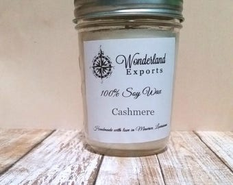 Cashmere Soy Candle 8oz, Cashmere, Warm, Delicate, Soy Candle, Container Candle
