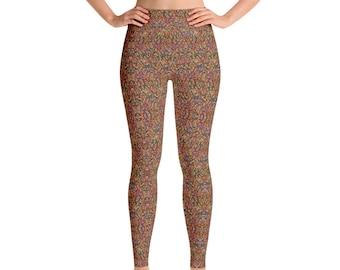Rainbow Sprinkles Yoga Pants - Yoga Leggings - Yoga Pants - Cute Yoga Pants  - Sprinkles Leggings - Exercise - Yoga Pants - Rainbow Sprinkles c20090aaf
