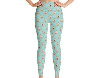 0e560e4c7425b Goldendoodle Women's Yoga Pants - Yoga Leggings - Yoga Pants - Cute Yoga  Pants - Goldendoodle Print Leggings - Exercise - Yoga Pants - Dogs