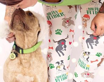 Pitbull Women s Yoga Pants - Yoga Leggings - Yoga Pants - Cute Yoga Pants -  Pit Bull Christmas Print Leggings - Exercise - Yoga - Dog Gift 4a1bff35e