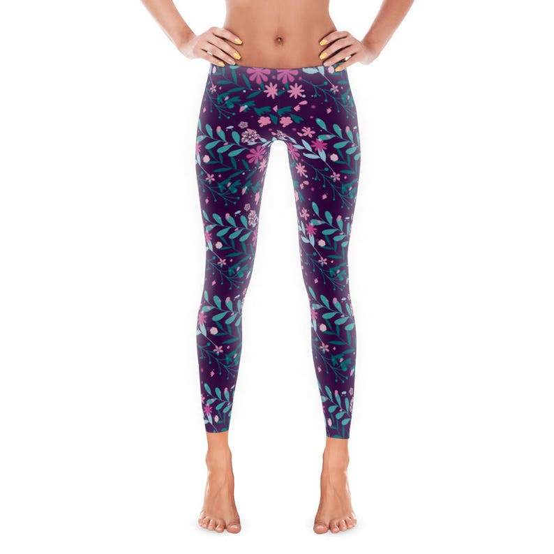 6221caadbf6327 Wildflower Women's Leggings Womens Fun Print Leggings | Etsy