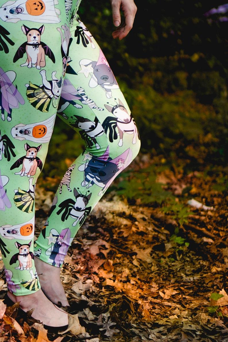 b1a985c5529867 Women's Leggings Womens Fun Print Leggings Doggies | Etsy