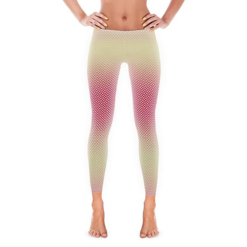 fe02a948b1586f Women's Leggings Womens Fun Print Leggings Mermaid | Etsy