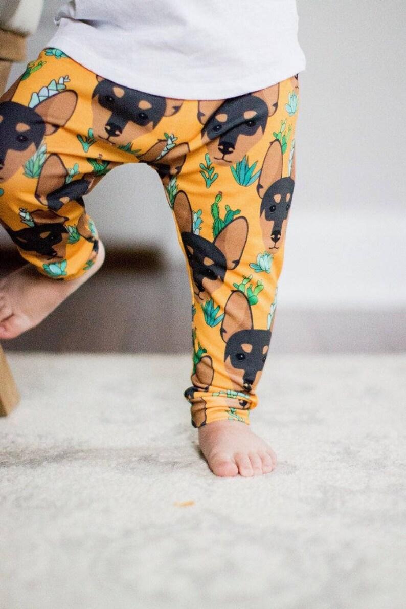 0788f4b527ea9 Handmade Baby Leggings Miniature Pinscher Baby Leggings | Etsy