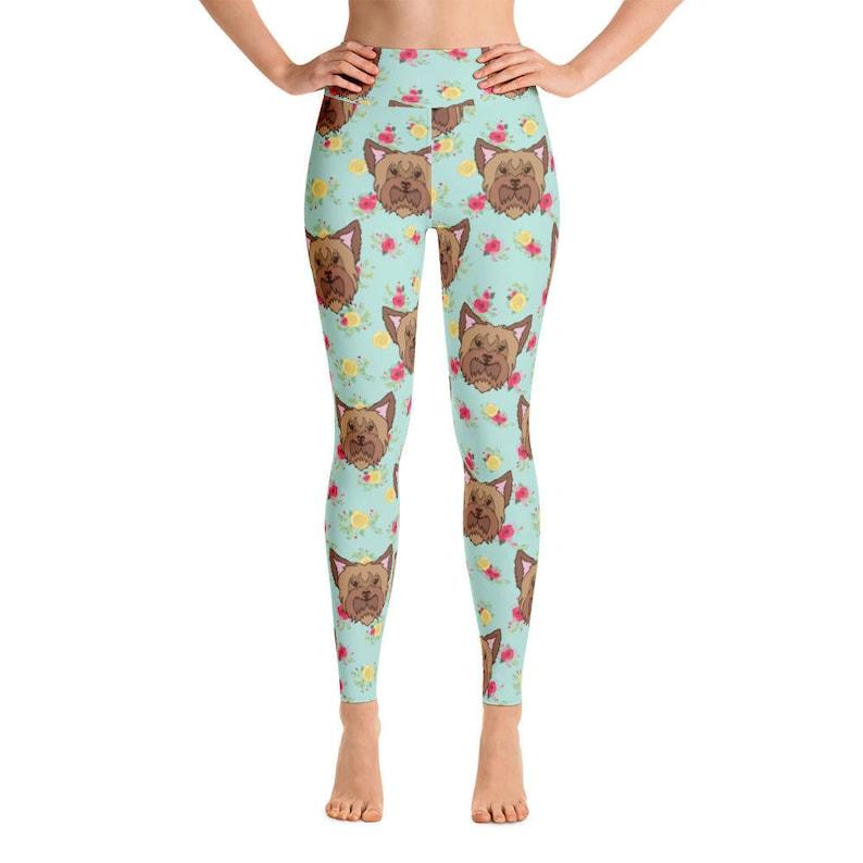2e1ab8a44da44 Yorkie Women's Yoga Pants Yoga Leggings Yoga Pants | Etsy