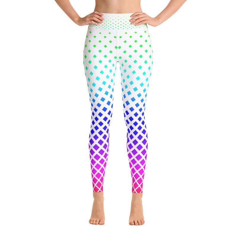 7544b189d151a Rainbow Diamond Yoga Pants Yoga Leggings Yoga Pants Cute | Etsy
