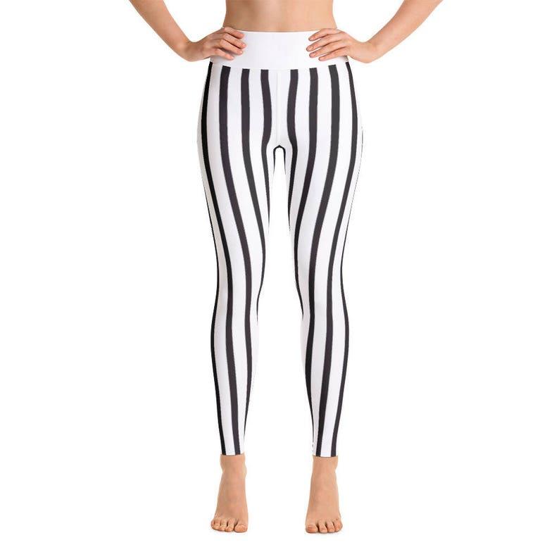 7a0cbacb76fe8 Monochrome Striped Yoga Pants Yoga Leggings Yoga Pants | Etsy