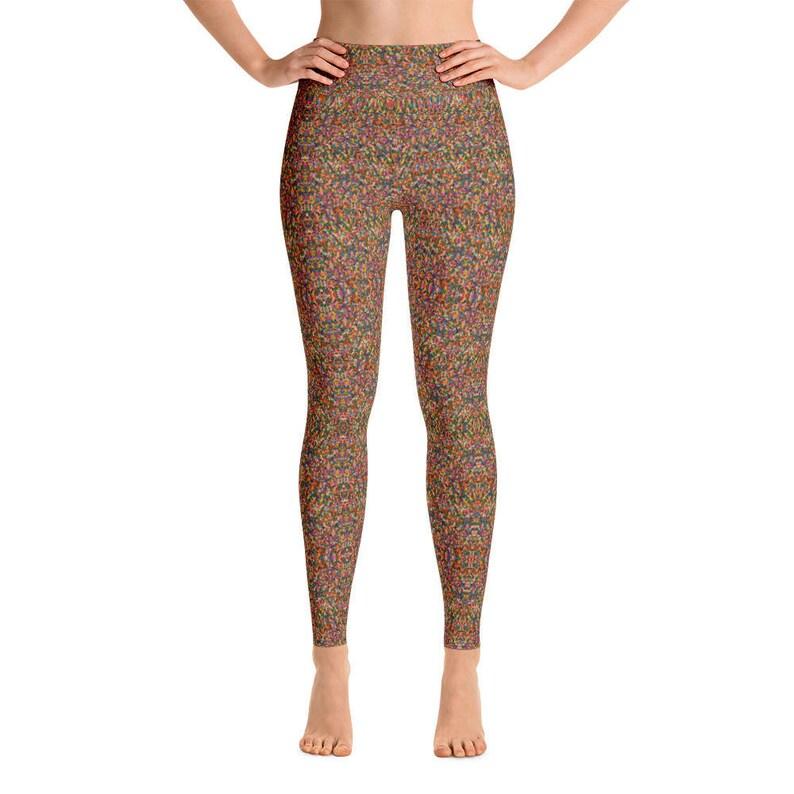 7717d4eee5 Rainbow Sprinkles Yoga Pants Yoga Leggings Yoga Pants | Etsy