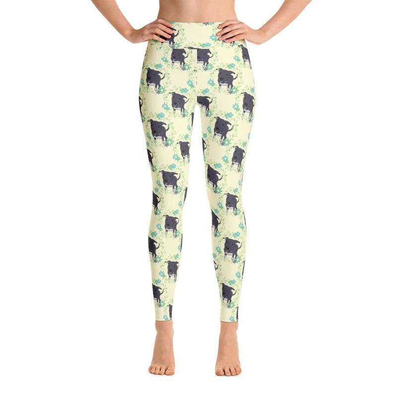 99ad4cb5387a3f Pitbull Print Women's Yoga Pants Yoga Leggings Yoga | Etsy