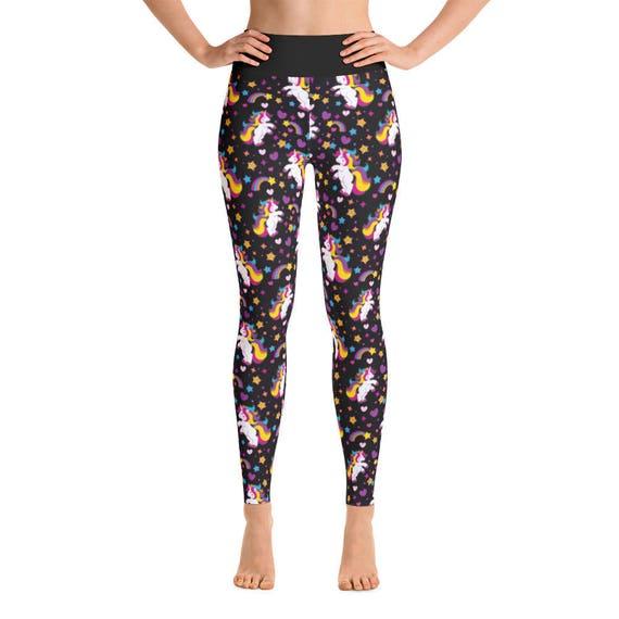 Unicornio de Yoga pantalones polainas de Yoga Yoga Yoga | Etsy