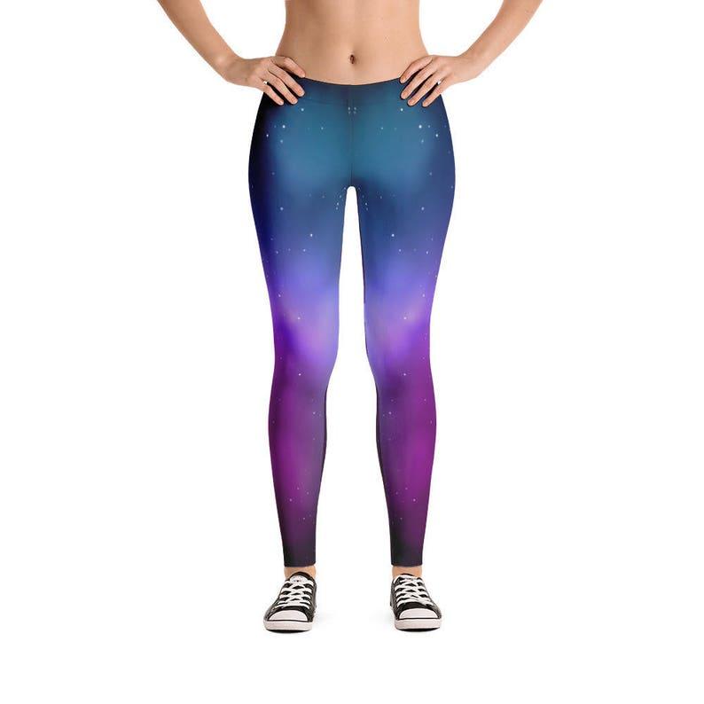 ec0e3a5f856c16 Galaxy Women's Leggings Womens Fun Print Leggings | Etsy