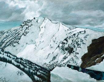 Mount Superior Fine Art Print Alta Utah Winter Snowy Mountains Landscape Painting