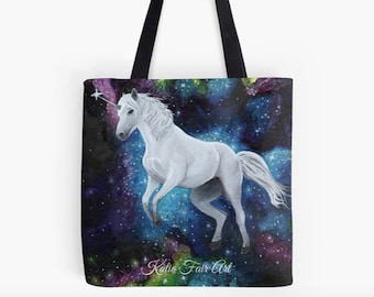Space unicorn - tote bag