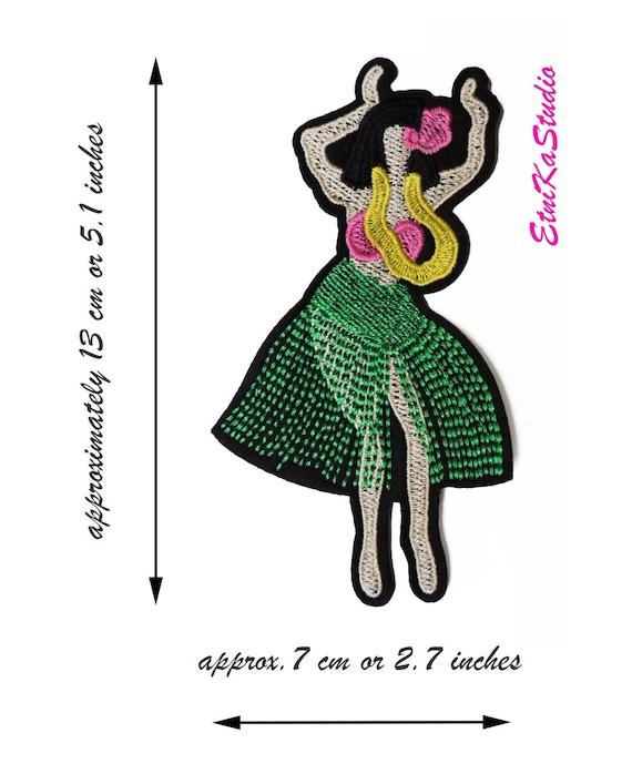 0ee6b4c55ea Hula dancer Hula girl Hawaiian dancer patch colorful | Etsy