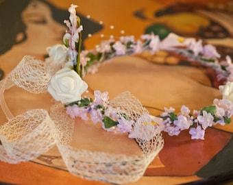 Crown of flowers for wedding