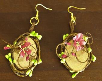 Floral earrings for sweet Elf