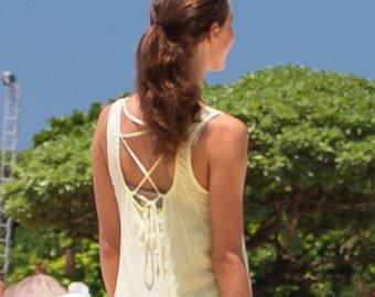 Dewi Sundress, Beach Dress, Sundress, Summer Dress, Womens Sundress, Yellow Sundress, 112-113