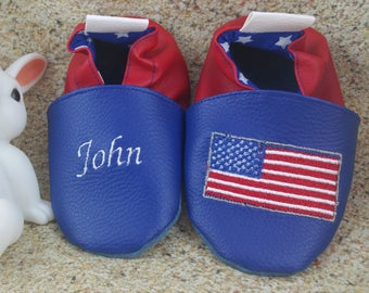 American soft leatherette slippers
