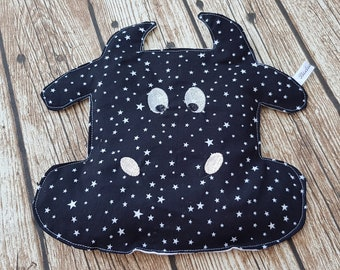 "Heating pad, water bottle ""Calicho"" cow heating, heating pad, black starry heating pad, custom hot/cold"