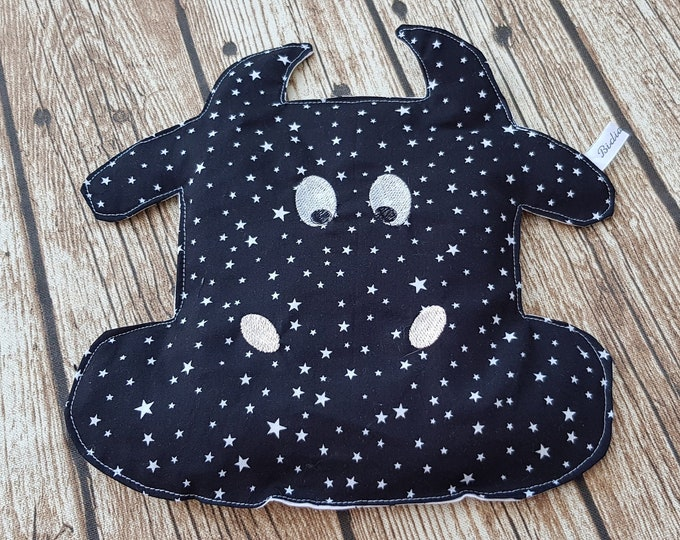 "Dry bottle, ""Calicho"" bottle, cow bottle, hot water bottle, starry black hot water bottle, personalized hot water bottle"