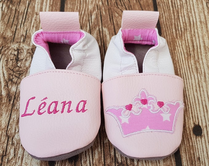 crown soft slippers for children