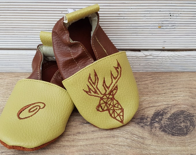 leather soft slippers