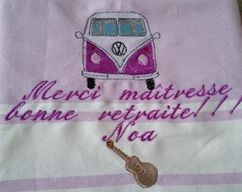 Embroidered Fouta, fouta beach towel, personalized fouta towel Beach embroidered, personalized gift centerpiece