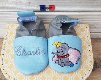 Soft elephant child slippers to customize
