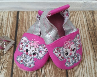 soft slippers elephant, leatherette soft slippers, leather soft slippers
