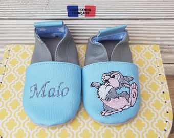 Soft leather, leatherette, baby girl, order Amandine slipper shoe booties