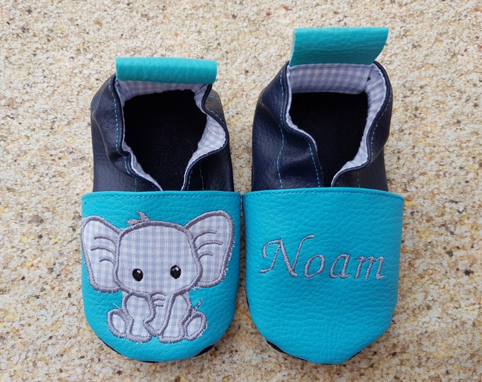 soft slippers elephant, leatherette soft slippers, leather soft slippers