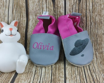 Slippers soft leather, leatherette shoe baby Bootie boy, girl, kids slippers, slipper, chic shoe, hat