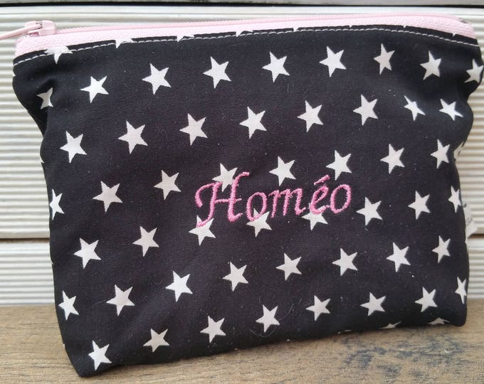 Homeopathic travel kit, homeopathy, anti-ondes compact pouch, travel, to customize