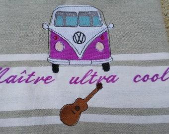 Fouta embroidered, Fouta, beach towel, personalized Fouta, embroidered beach towel, personalized, master gift, mistress, atsem