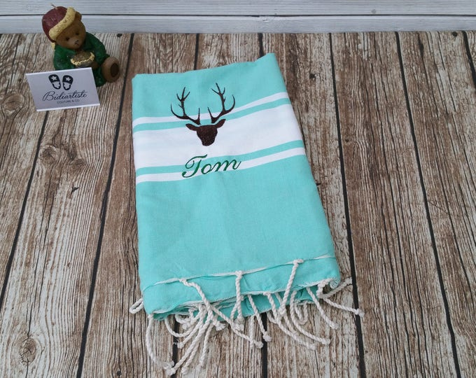 Fouta embroidered, Fouta, beach towel, personalized Fouta, embroidered beach towel, personalized