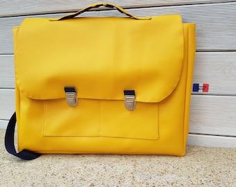 School satchel, school, kindergarten bag, faux leather, custom