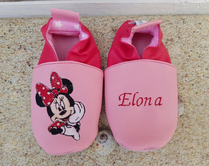 Minnie soft leatherette slippers