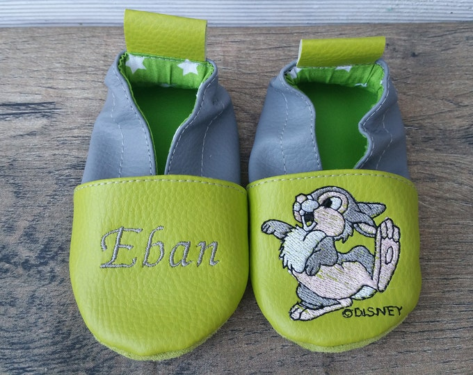 disney panpan soft slippers, leather soft slippers, leather slippers,
