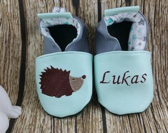 Hedgehog soft slippers