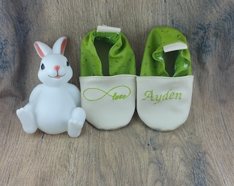 Slippers soft leather, leatherette shoe baby Bootie boy, girl, kids slippers, slippers custom slippers, infinity