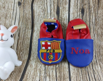Soft leather slippers, faux leather, baby slipper, boy slipper, girl slipper, child slipper, custom slipper, foot