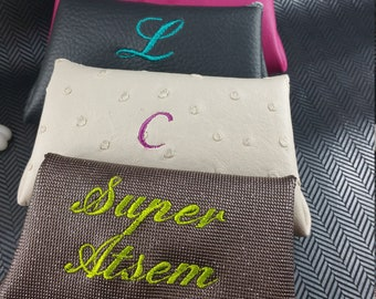 Women wallet, wallet, worn coin embroidered, personalized wallet, leather purse