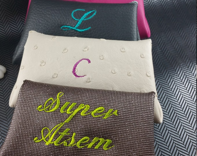 Woman wallet, wallet, embroidered wallet, custom wallet, leather coin holder