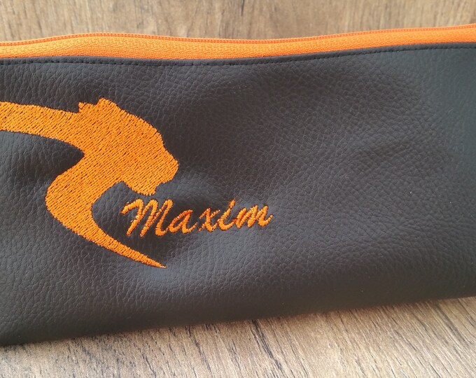Kit Kit school, kids bag, faux leather, embroidered, personalized