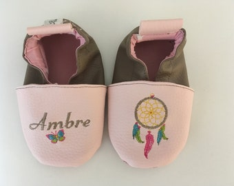 Baby shoes soft leather, faux leather, shoe baby Bootie boy, girl, kids slippers, slippers custom slippers, dream dreams