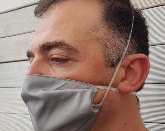 Washable protective mask, barrier mask, protective mask, triple-thickness mask, washable mask, reusable mask