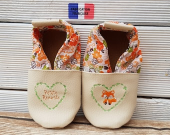 fox leatherette soft slippers
