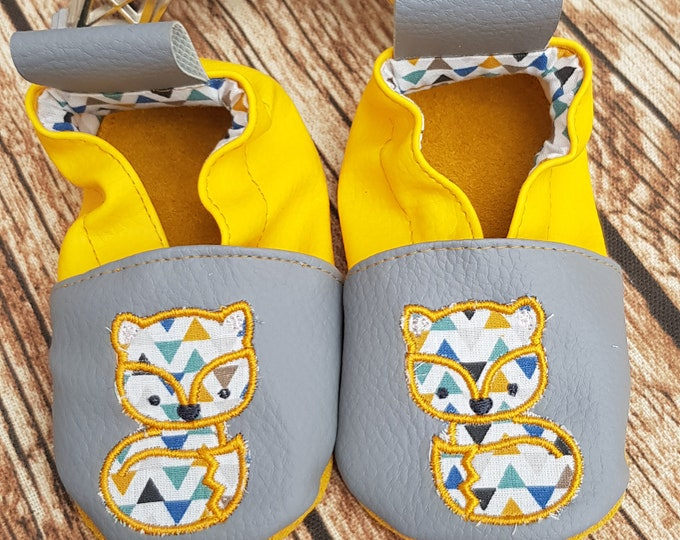 fox soft leatherette slippers