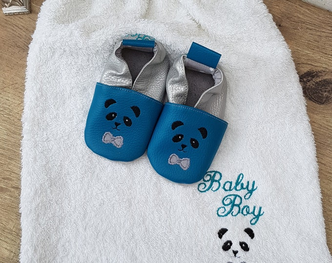 Birth pack to customize: slippers and bib, Yacine order