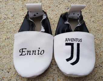 leather soft slippers, juventus slippers, juventus soft slippers